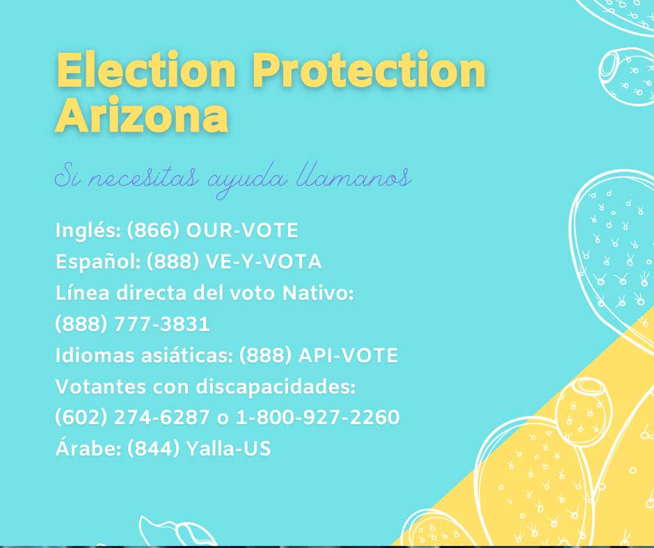Call the Election Protection Hotlines - 866-OUR-VOTE